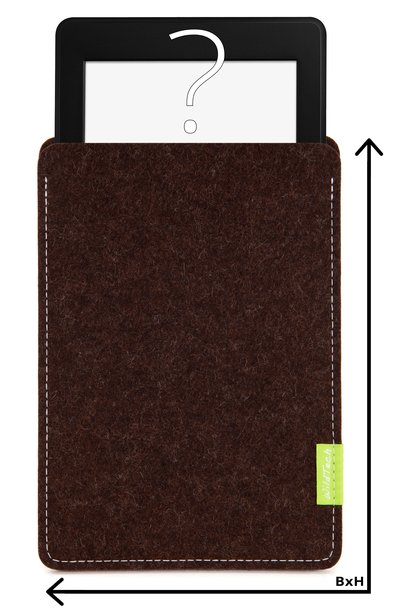 Individual eBook Sleeve Truffle-Brown