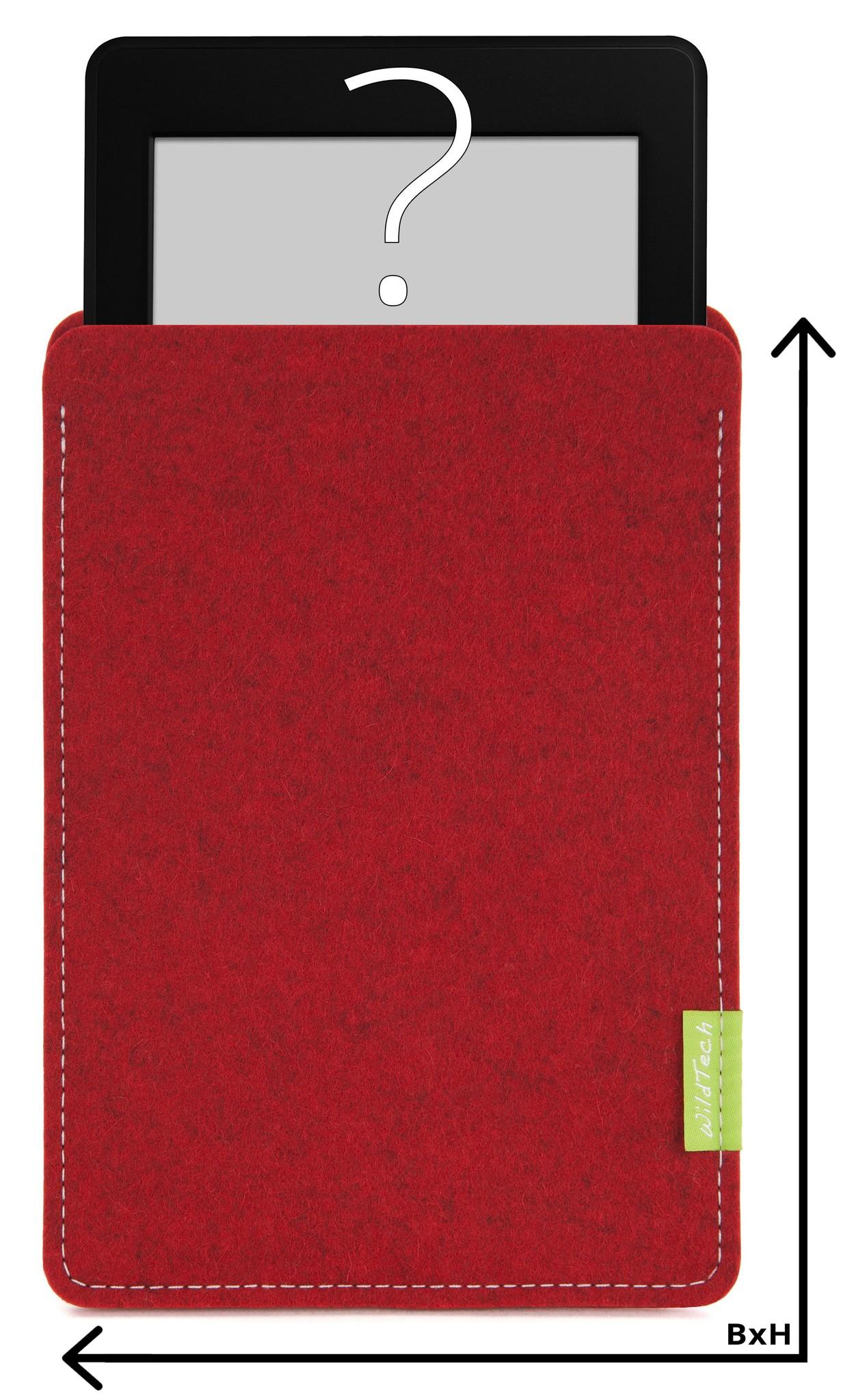 Individuelles eBook Sleeve Kirschrot-1