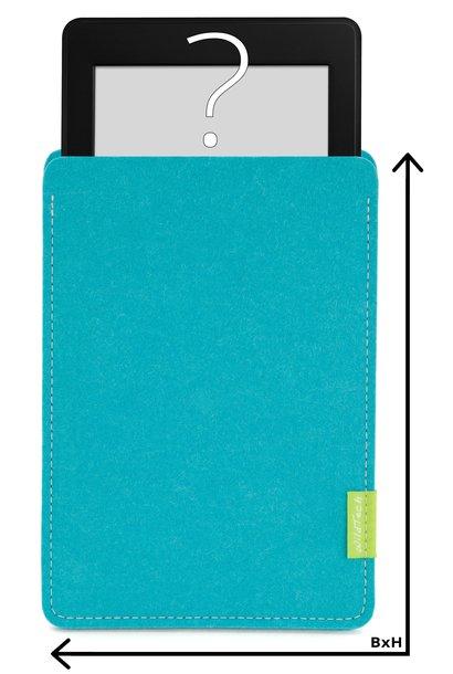 Individuelles eBook Sleeve Türkis