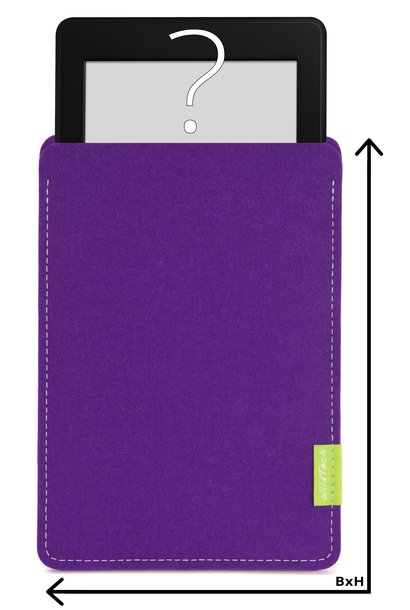 Individual eBook Sleeve Purple
