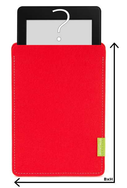 Individual eBook Sleeve Bright-Red
