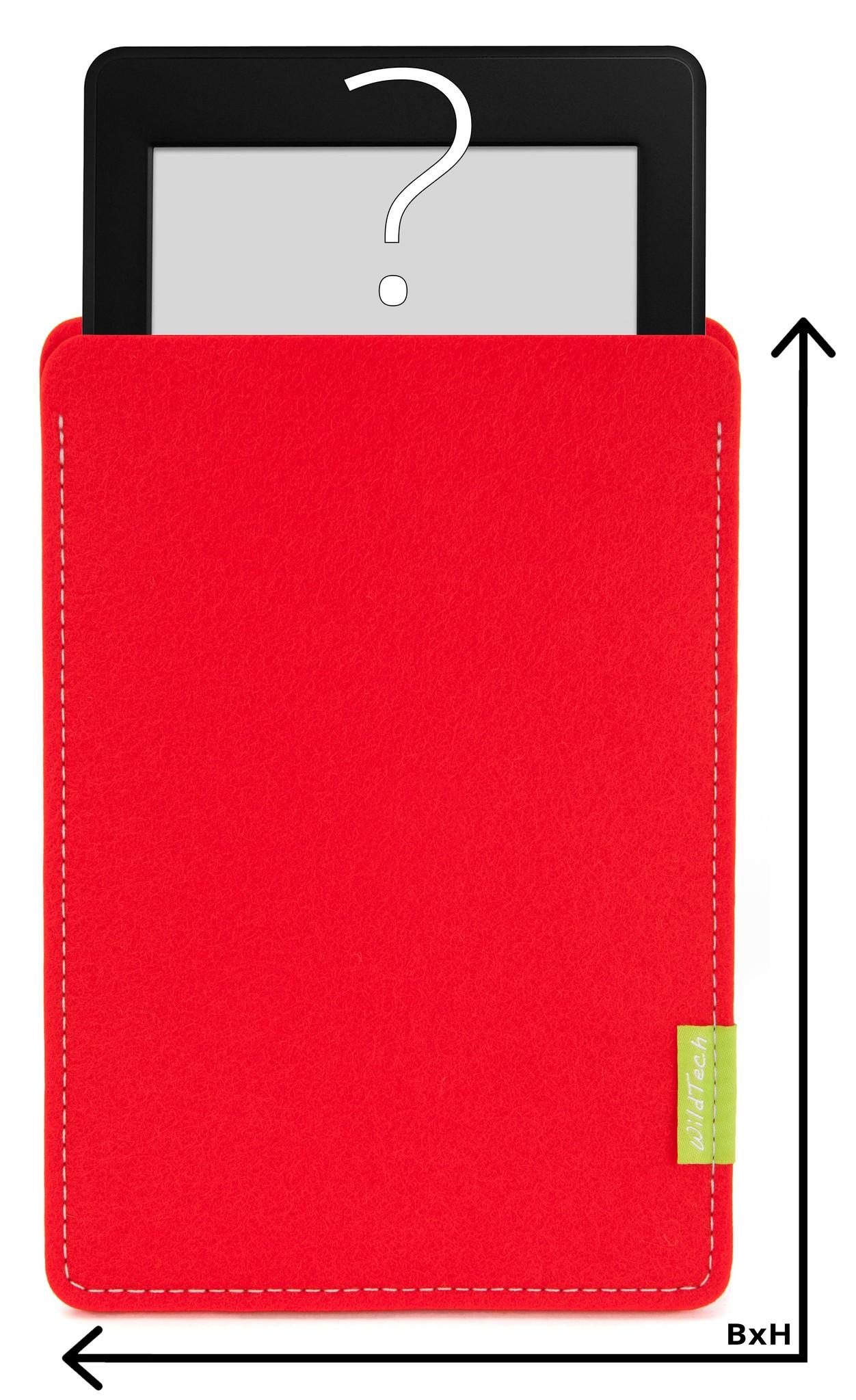 Individuelles eBook Sleeve Hellrot-1