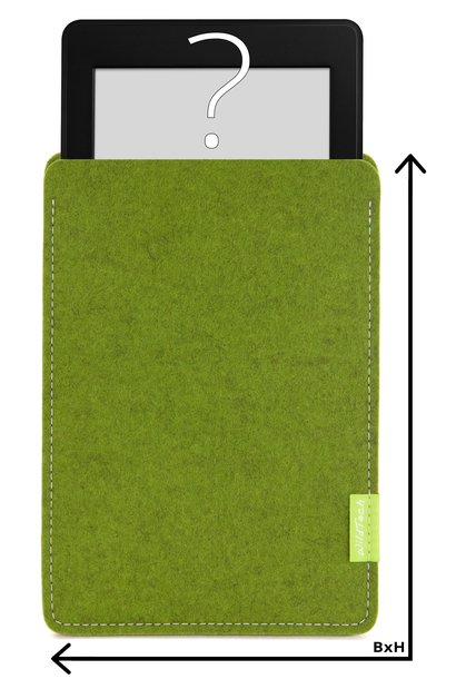 Individual eBook Sleeve Farn-Green