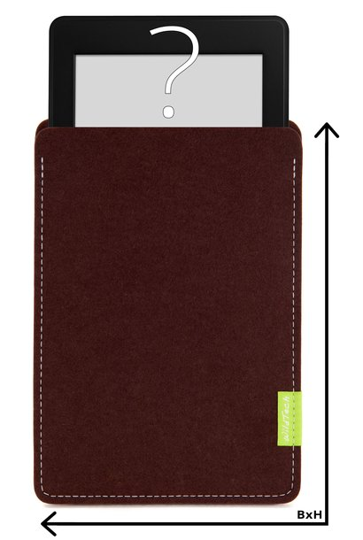 Individual eBook Sleeve Dark-Brown