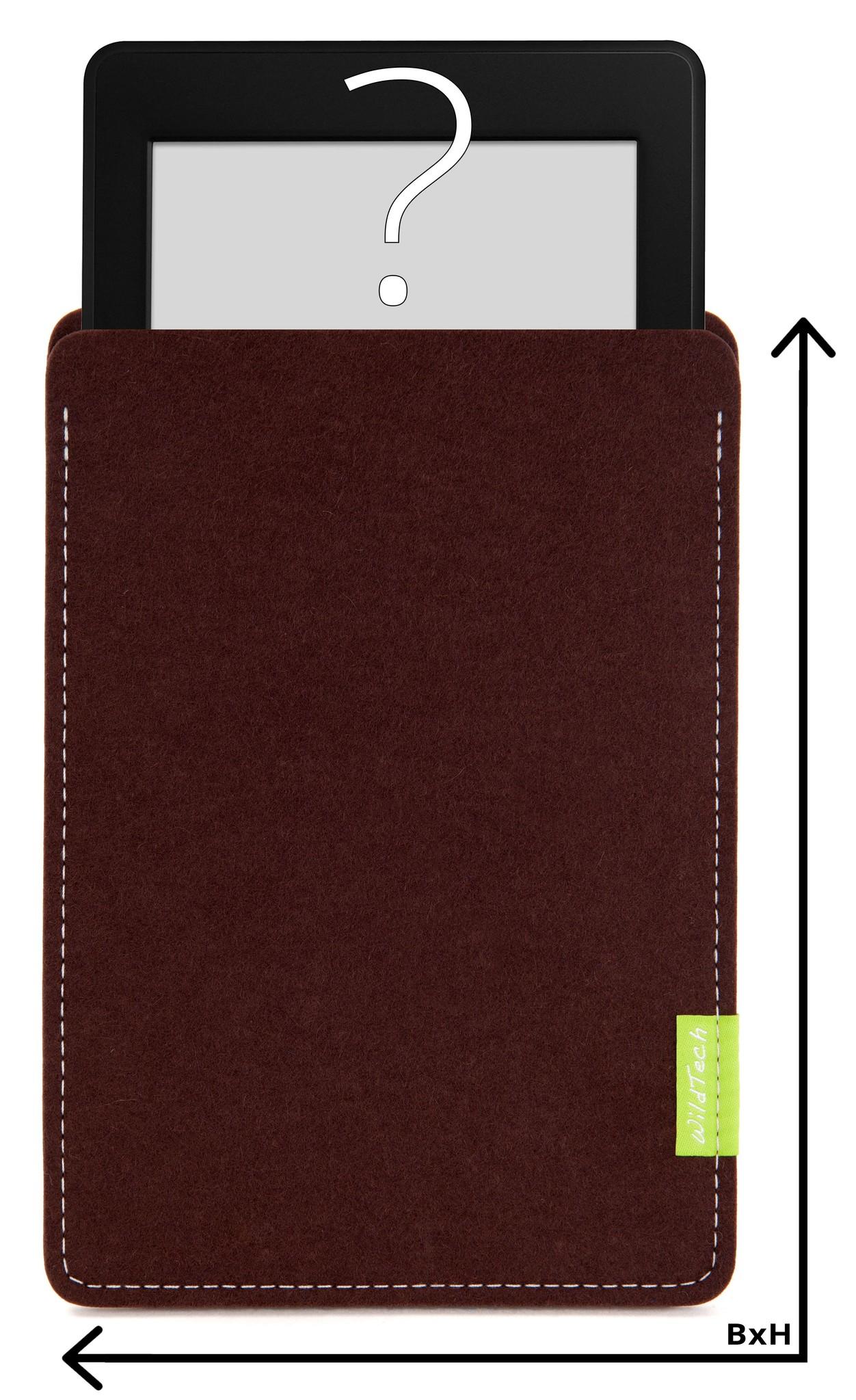 Individuelles eBook Sleeve Dunkelbraun-1
