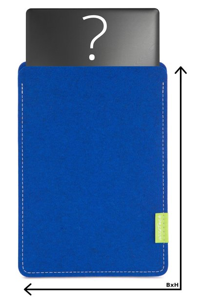 Individuelles Notebook Sleeve Azure