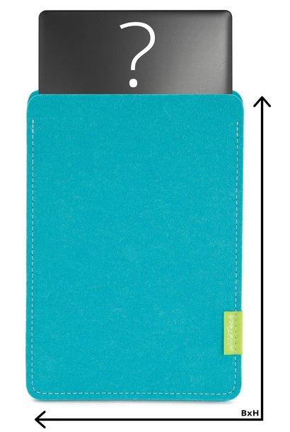Individuelles Notebook Sleeve Türkis