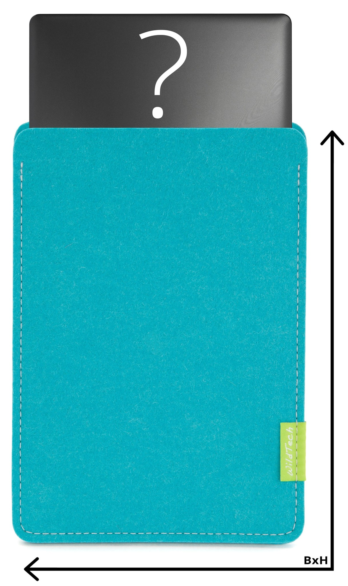 Individual Notebook Sleeve Turquoise-1