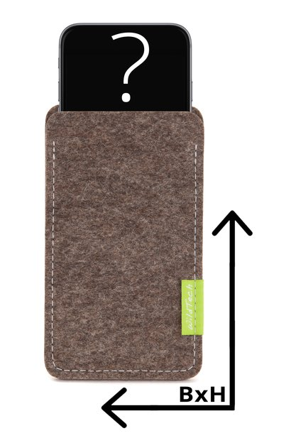 Individual Smartphone Sleeve Nature-Flecked