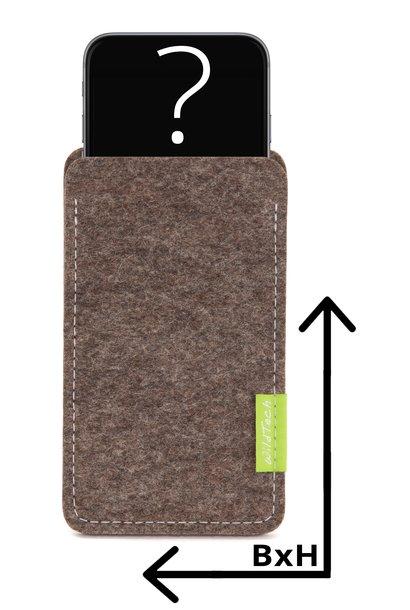 Individuelles Smartphone Sleeve Natur-Meliert