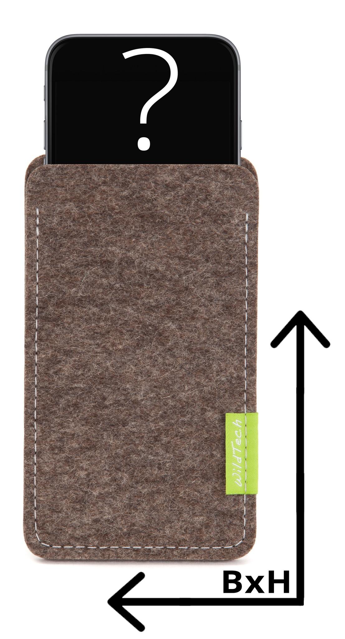 Individuelles Smartphone Sleeve Natur-Meliert-1