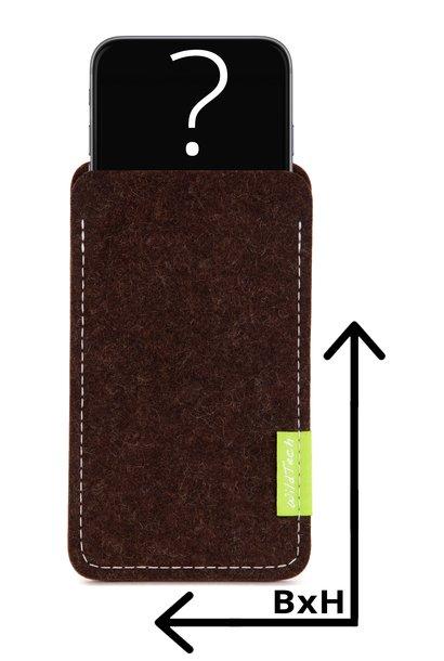 Individuelles Smartphone Sleeve Trüffelbraun