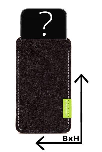 Individuelles Smartphone Sleeve Anthrazit