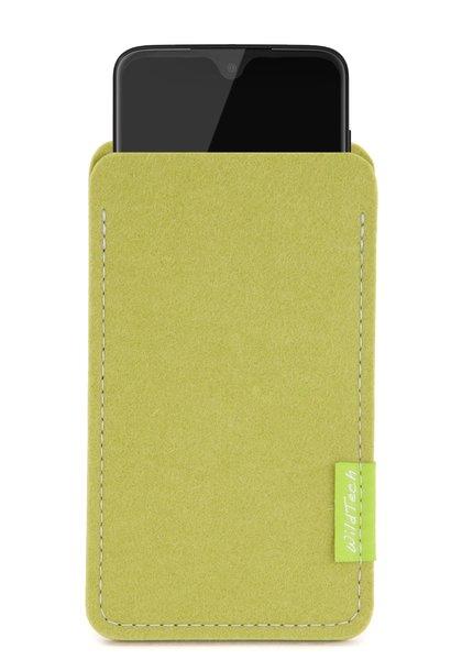 Moto Sleeve Lindgrün