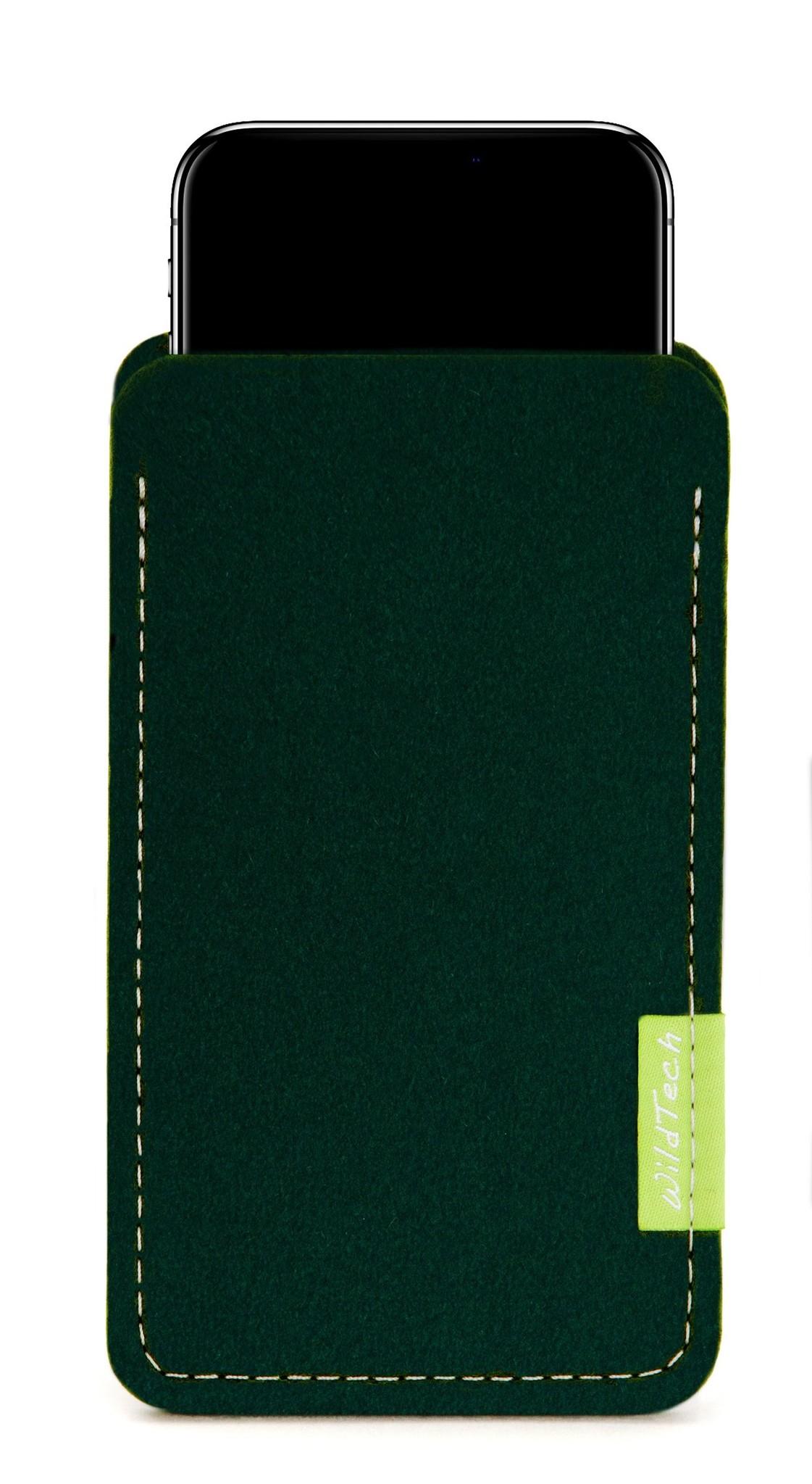 iPhone Sleeve Nachtgrün-1