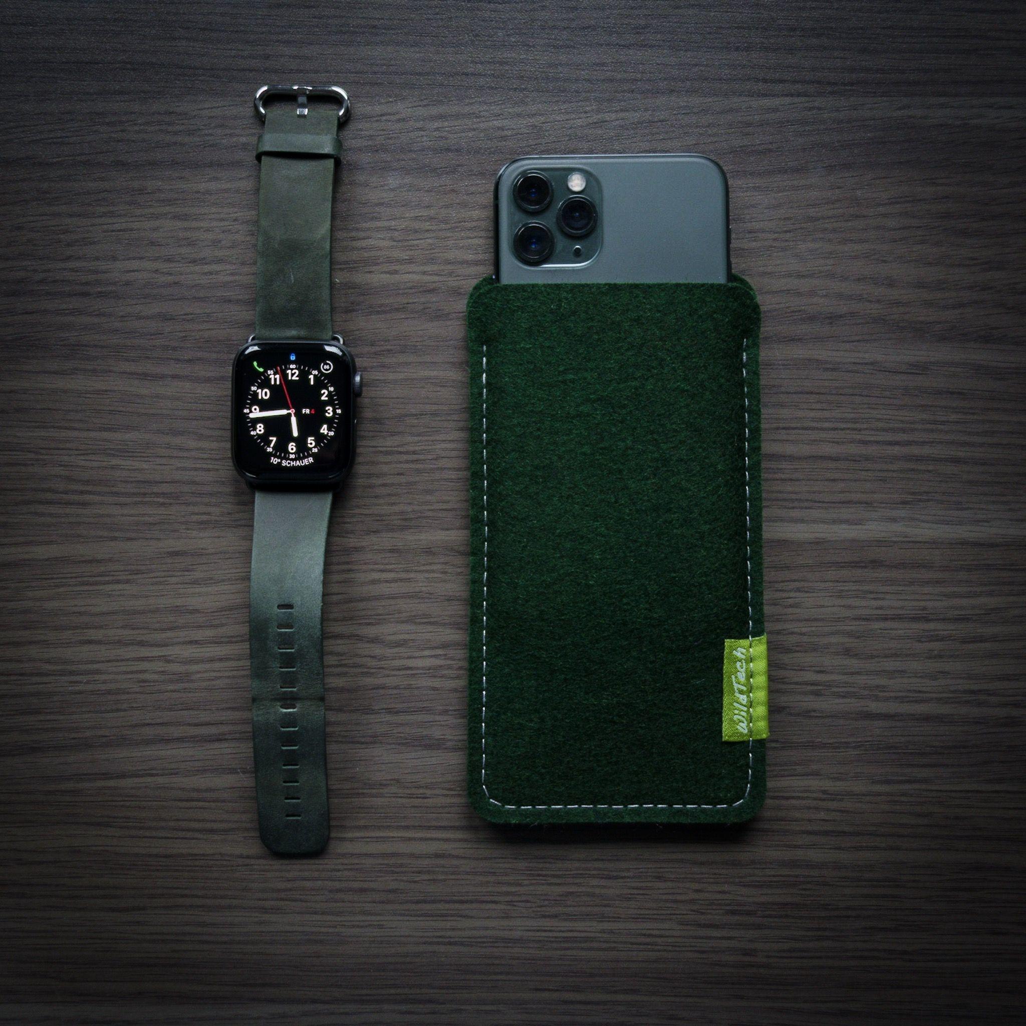 iPhone Sleeve Nachtgrün-2