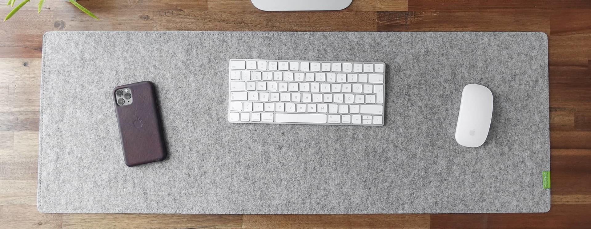 Schreibtischunterlagen aus Filz