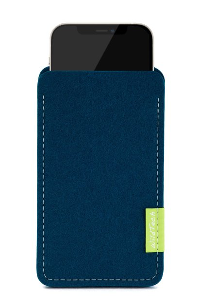 iPhone Sleeve Pazifikblau
