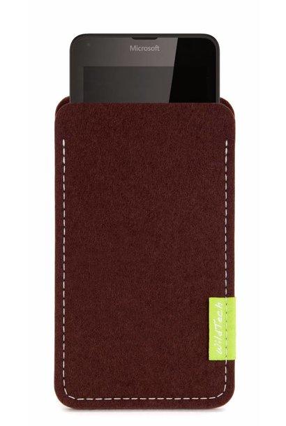 Lumia Sleeve Dunkelbraun
