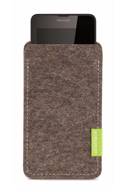 Lumia Sleeve Natur-Meliert