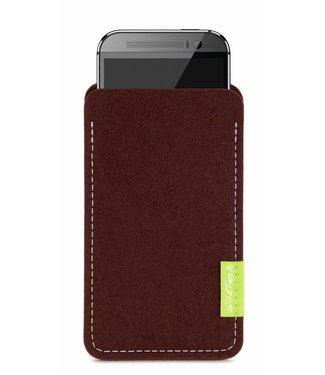 HTC U / Desire / One Sleeve Dunkelbraun