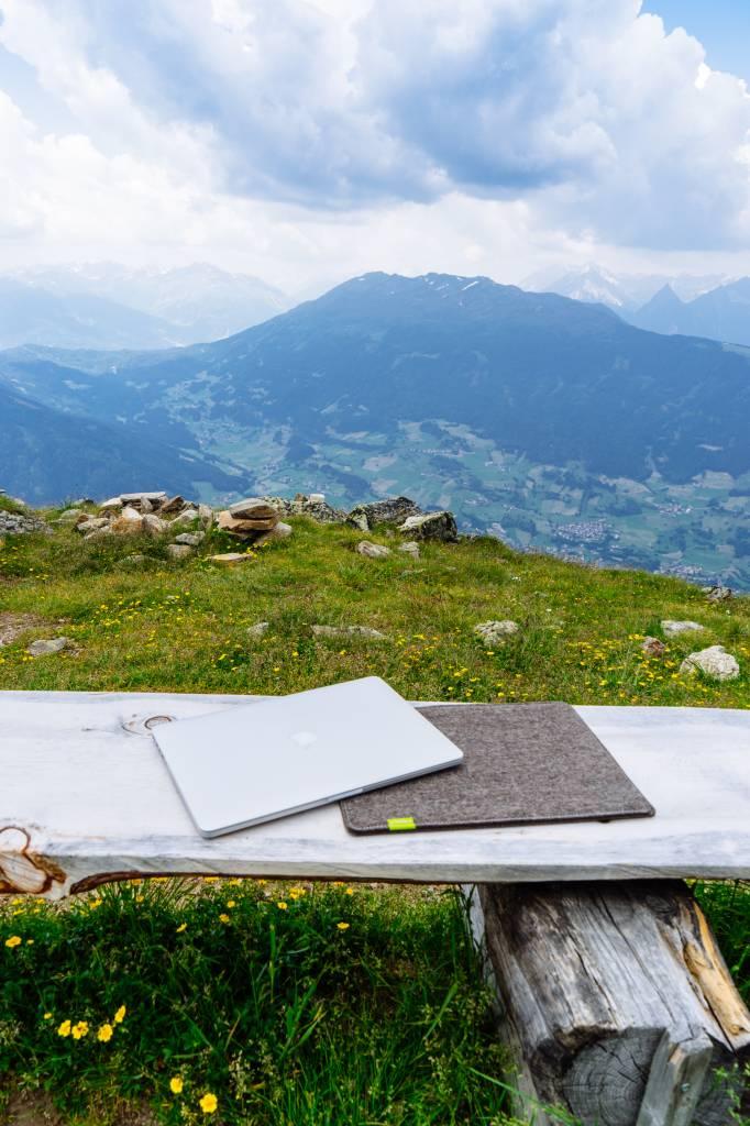MacBook Sleeve Natur-Meliert-3