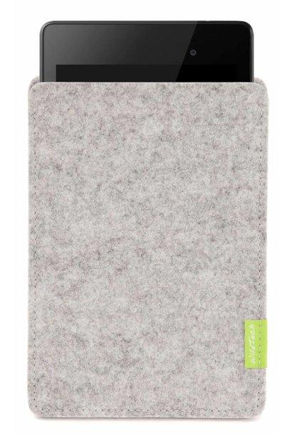 Pixel/Nexus Tablet Sleeve Hellgrau
