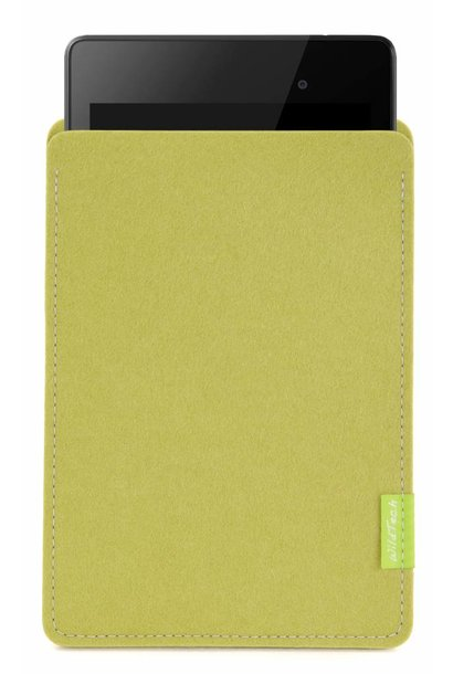 Pixel/Nexus Tablet Sleeve Lindgrün