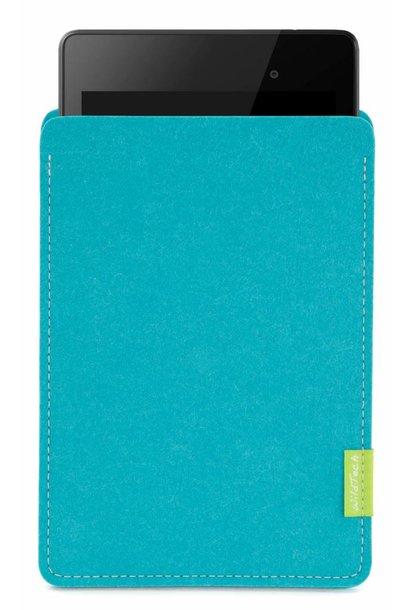 Pixel/Nexus Tablet Sleeve Turquoise