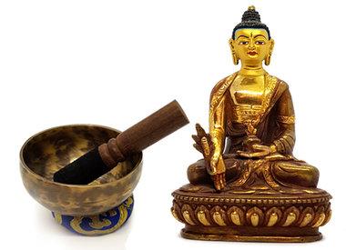 Meditation und Puja
