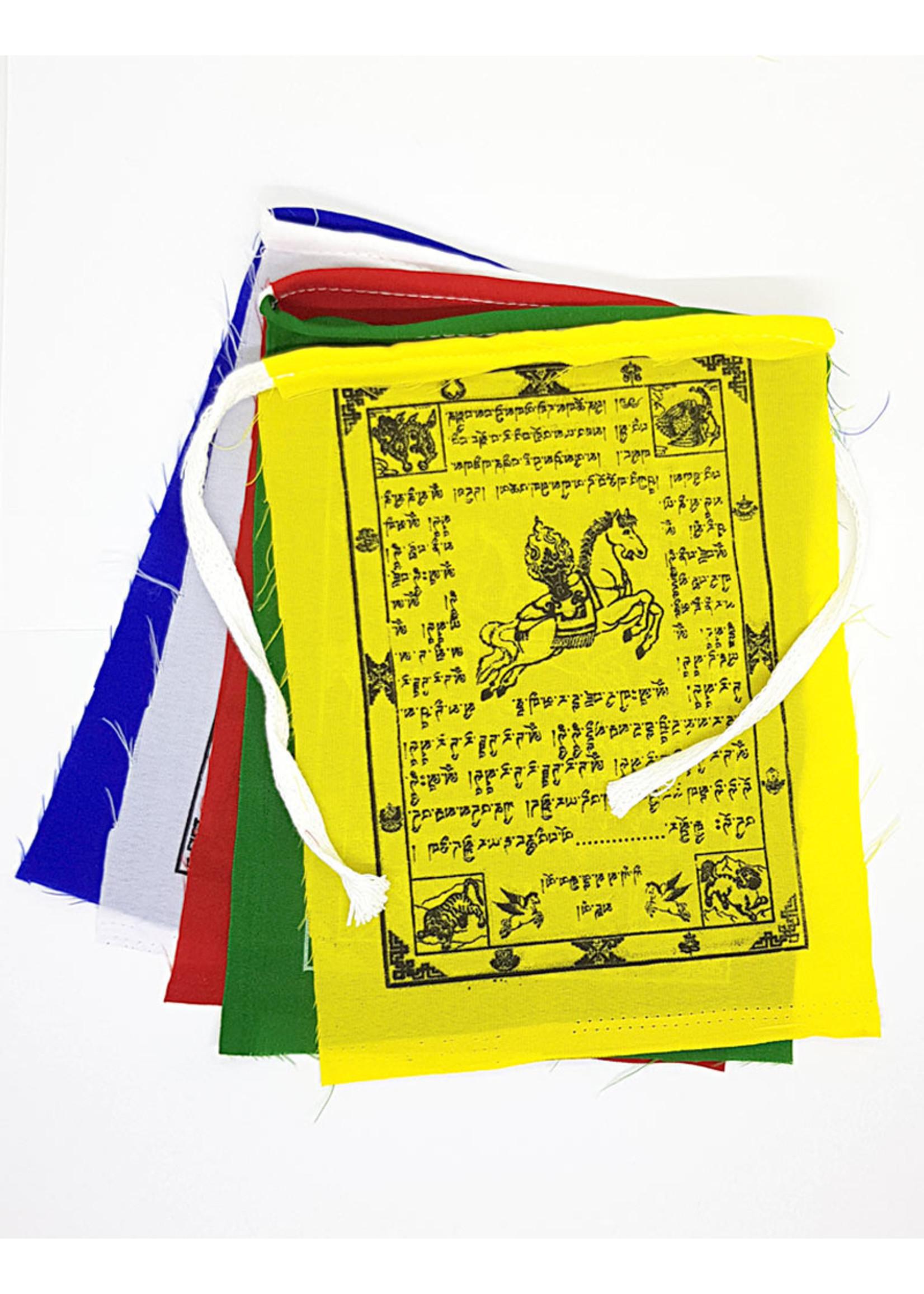 Tibetische Gebetsfahnen Klein, Polyester, 80 cm