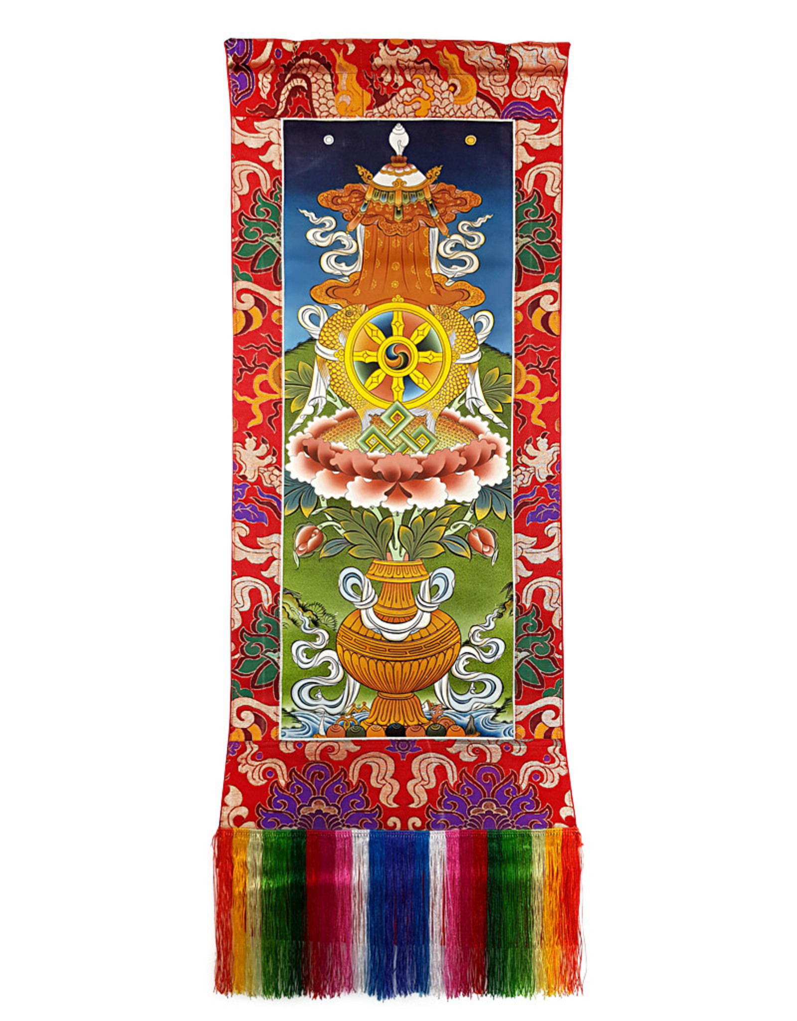 Wandbehang 8 Glückssymbole Nyatri
