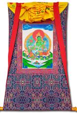 Tibetisches Thangka grüne Tara