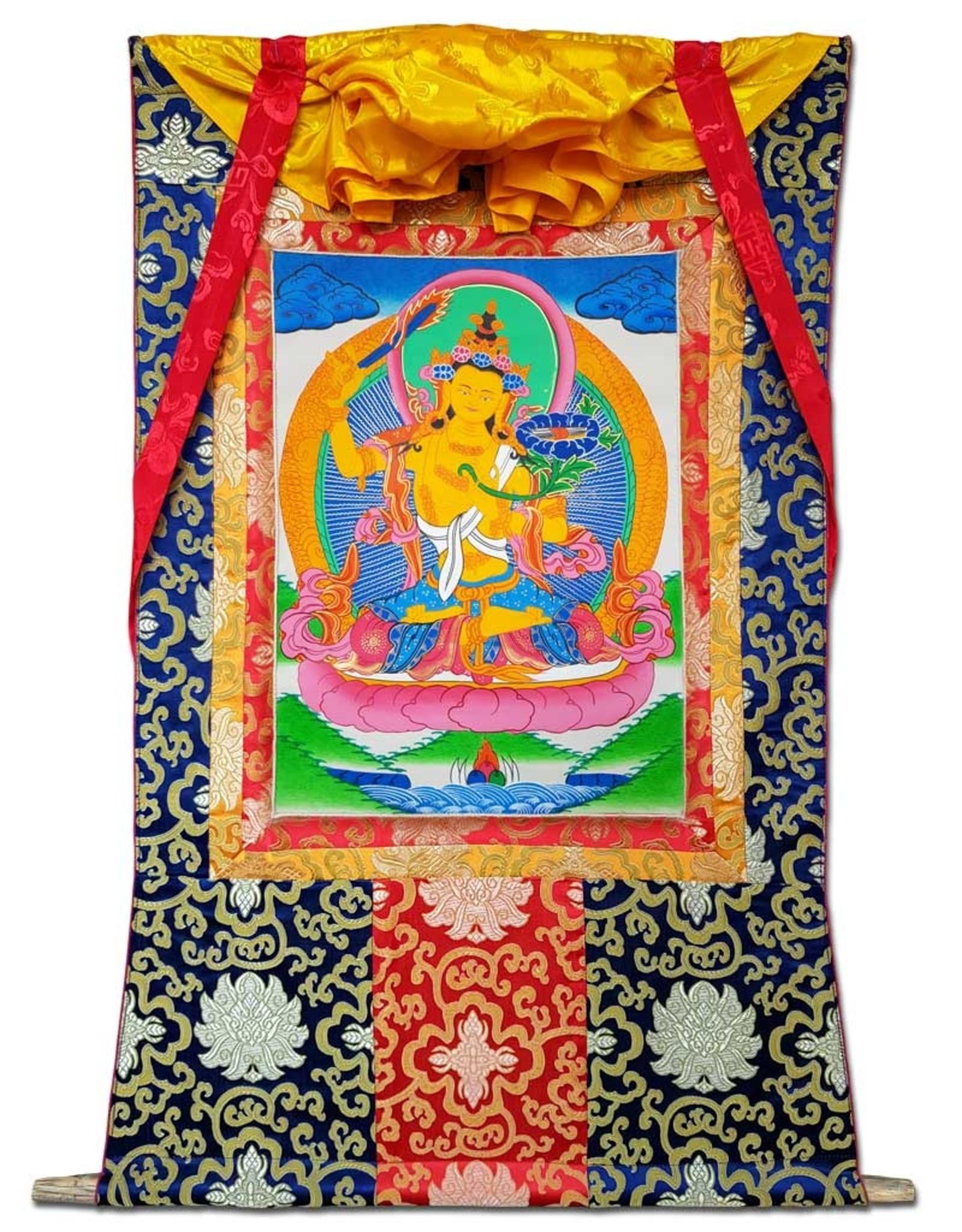 Tibetisches Thangka Jamphel Yang (Mañjushrî)