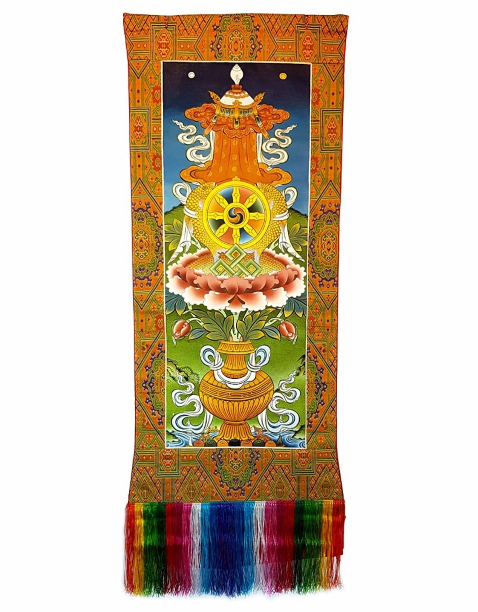 Wandbehang 8 Glückssymbole Khawo