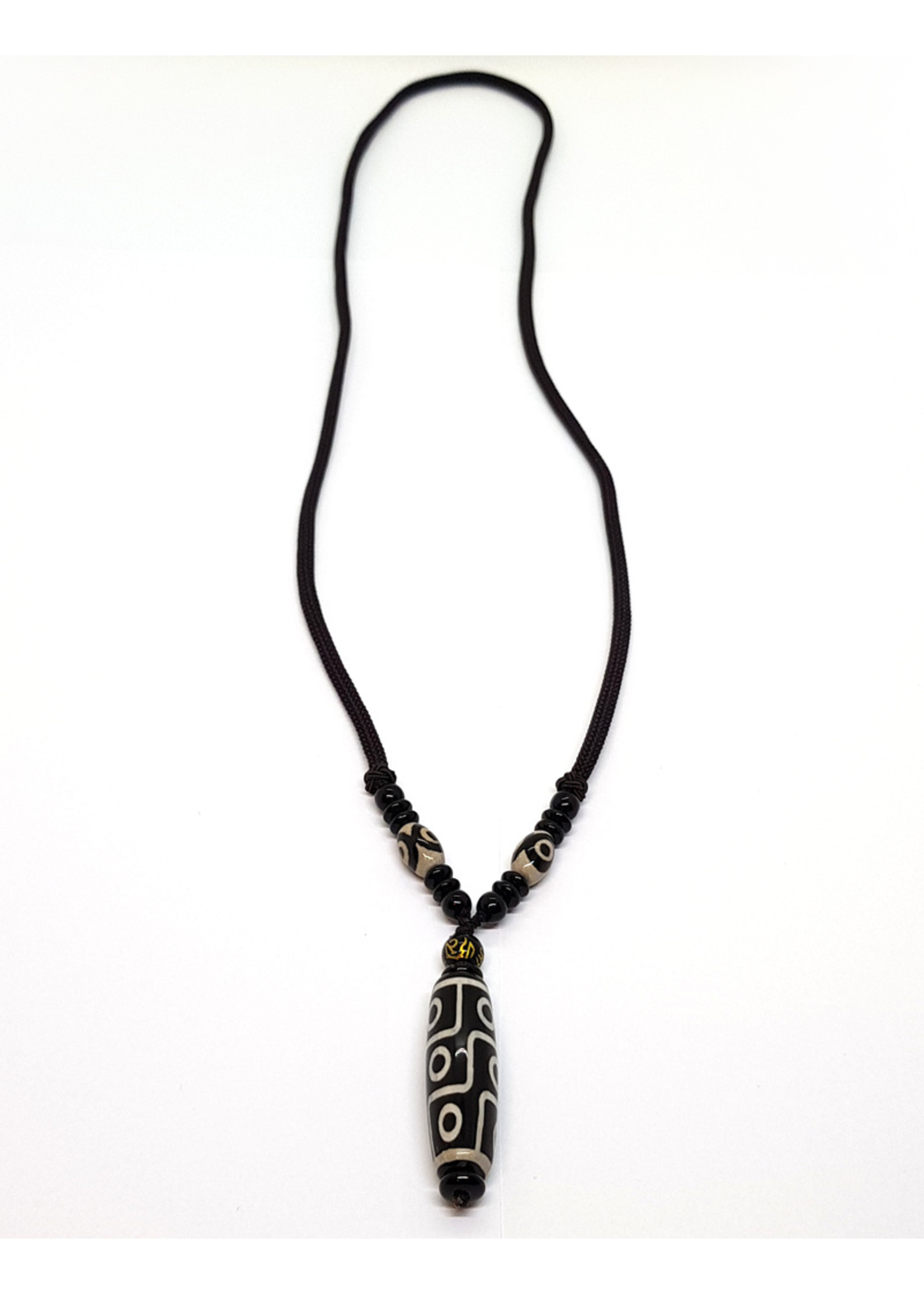 Halskette Dzi 9-Auge Anhänger mit Kette, Ghangchen