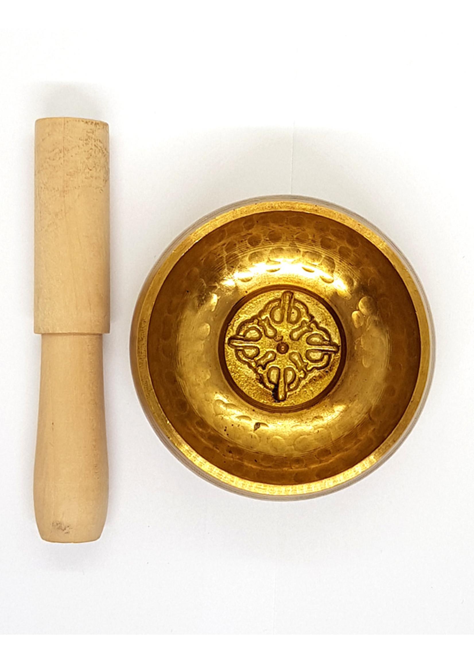 Tibetische Klangschale mit Holz-Klöppel, Dorjee