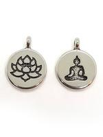 Schmuckanhänger Duo Buddha und Lotos