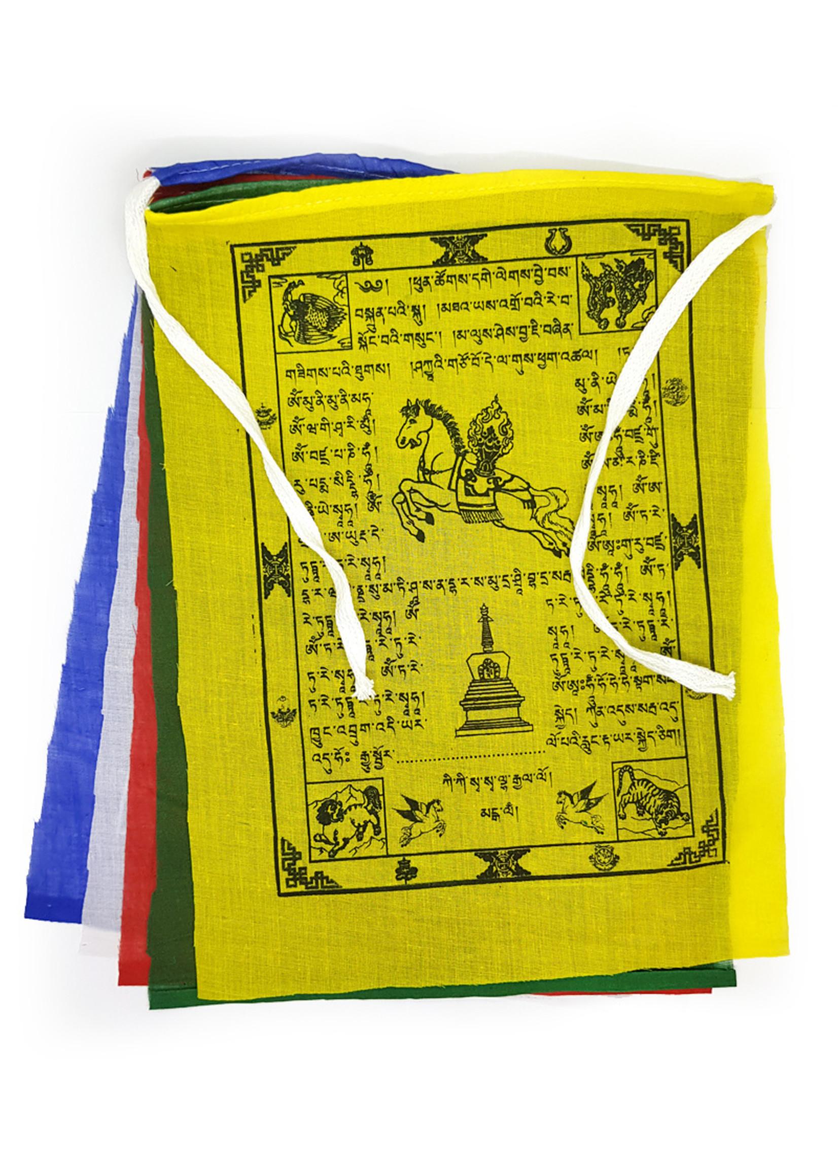 Tibetische Gebetsfahnen Mittel, Baumwolle, 1.3  Meter