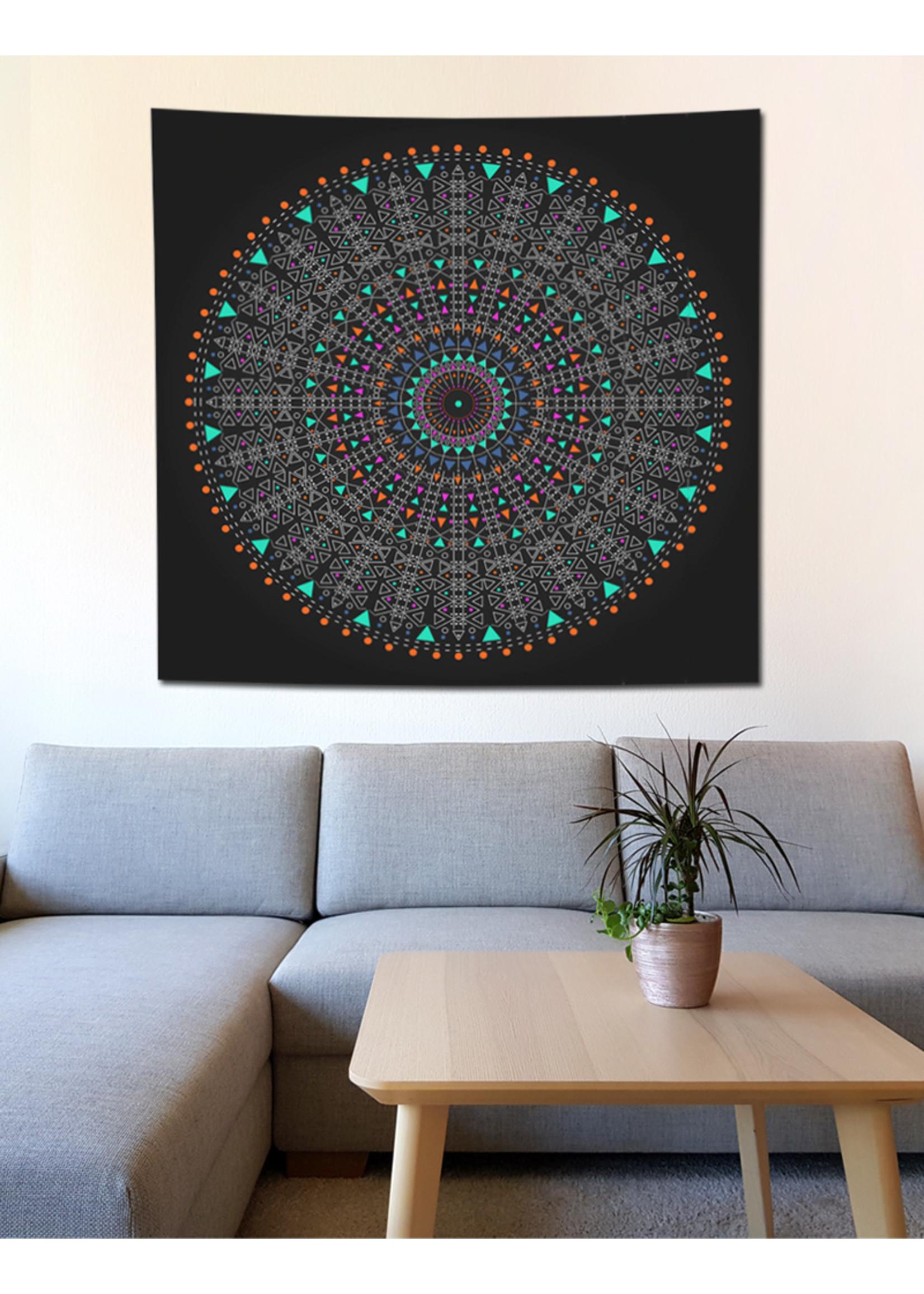 Wandtuch Meditation Mandala, 150 x 150 cm