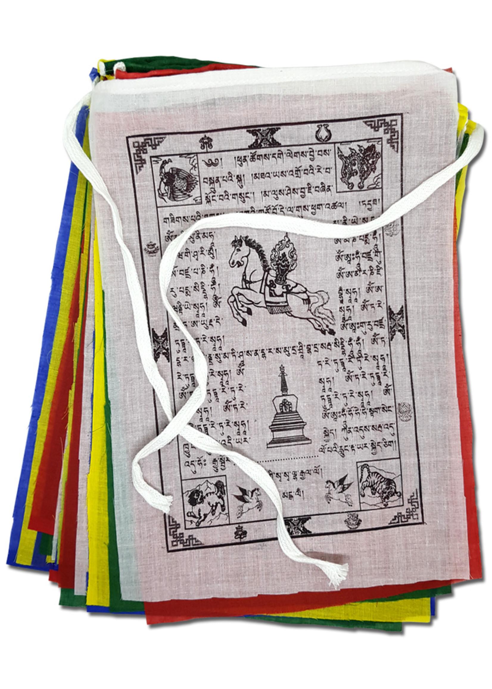 Tibetische Gebetsfahnen Gross, Baumwolle