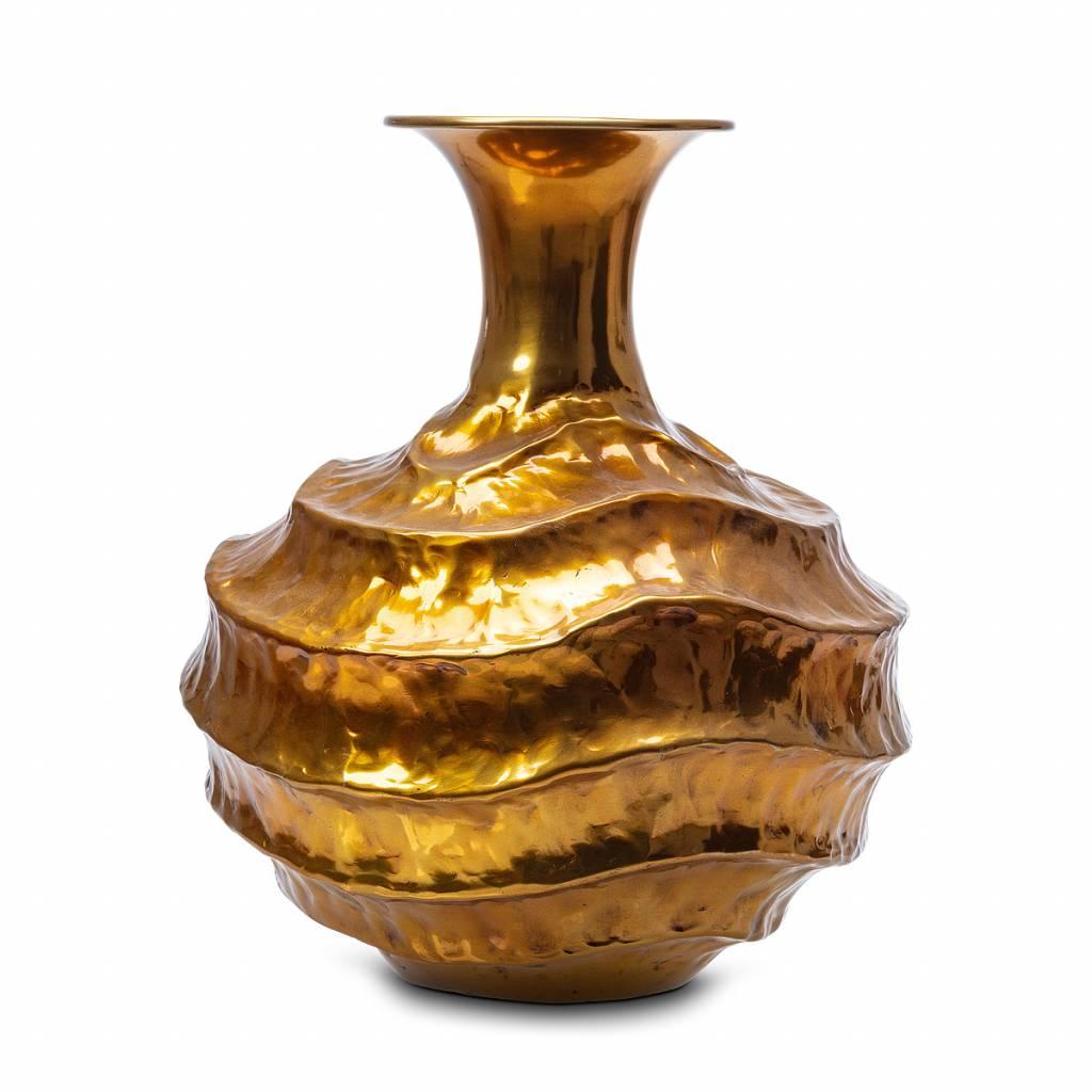 """black and gold Vase """"Wave"""""""