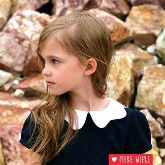 Straight Grain Pattern Tiny Dress