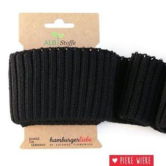 Albstoffe Cuff Me Cozy Carbon Zwart