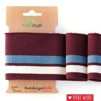 Albstoffe Cuff Me College Bordeaux - blue - white