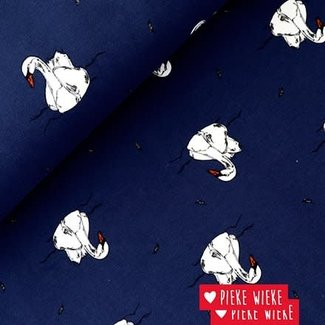 Bloome CPH French terry Swimming Swan Night blue
