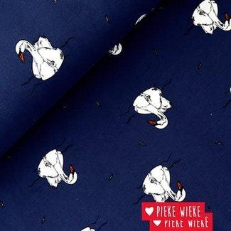 Bloome CPH French terry Zwemmende zwaan blauw