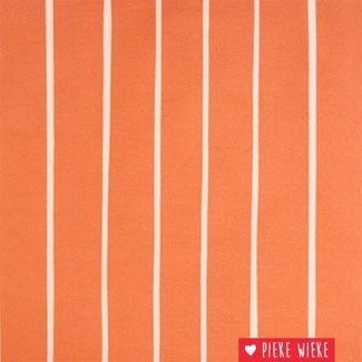 Eva Mouton French Terry Stripes coral