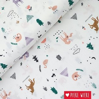 Katia Cotton popline Unicorn landscape