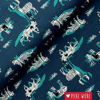 Tricot Paper wolf blauw